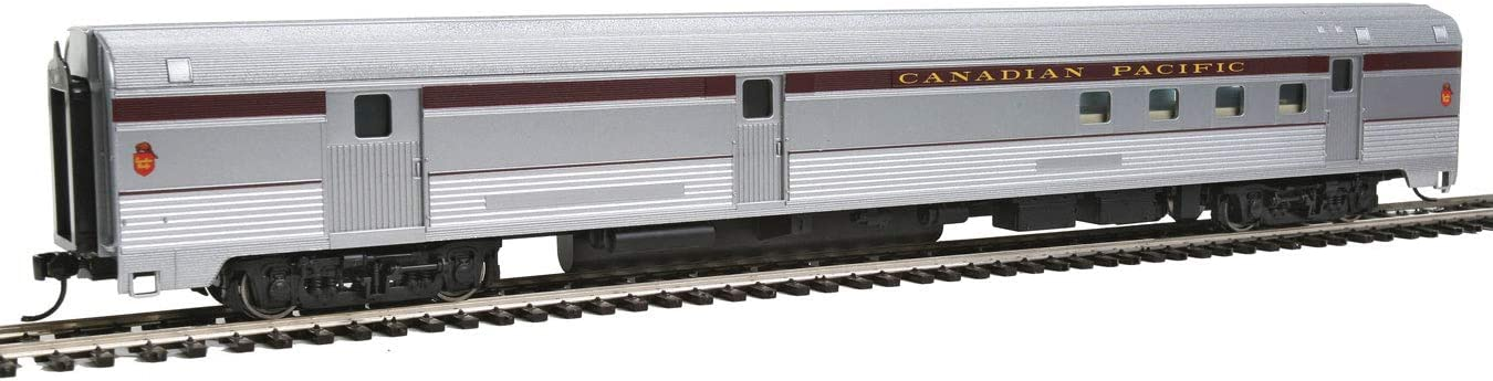 85 Budd Baggage-Railway Post Office Canadian Pacific Ready To Run silver, maroon