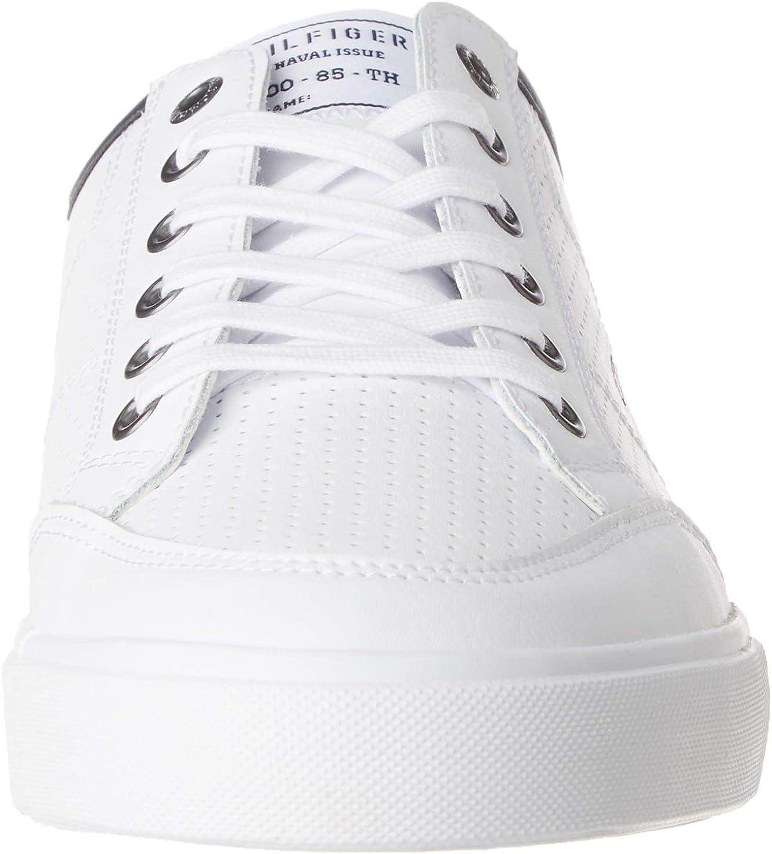 Tommy Hilfiger Herren Core Corporate Leather Sneaker Weiß White Ybs