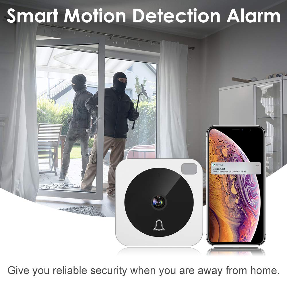 Video Doorbell, NETVUE Wireless Doorbell Camera with Two-Way Talk, IR Motion Detection, Night Vision, Compatible with Alexa Echo Show, Wifi Camera Doorbell with Cloud Storage [Wall Plug Included] (A) by NETVUE (Image #6)