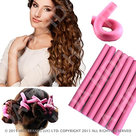 high quality best 8 pc bendy hair rollers deep pink set curlers foam