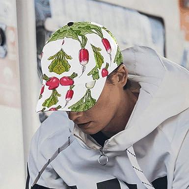 Gorras para Hombre Blanco Fresco Daikon Rábano Moda para Mujer ...