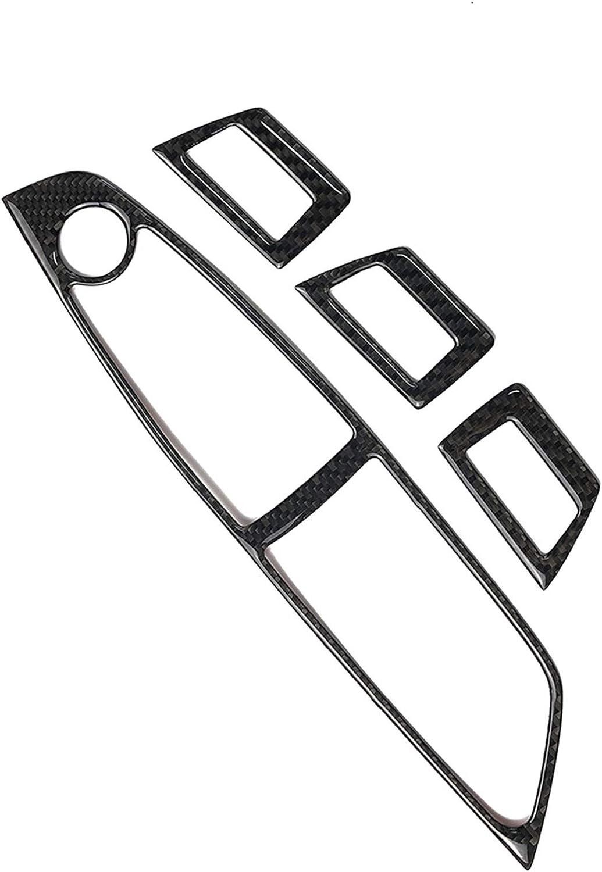 Classic Carbon Fiber Armrest Door Handle Window Lift Switch Button Frame Decal Cover Trim for BMW X5 X6 E70 E71 2008-2013 BMW053