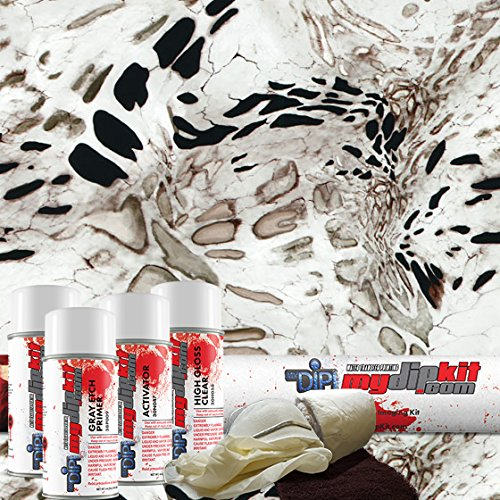 Hydrographics Film Kit - MyDipKit - RC-421 - Prym1 White Out Camo - Water Transfer Printing DK-RC-330