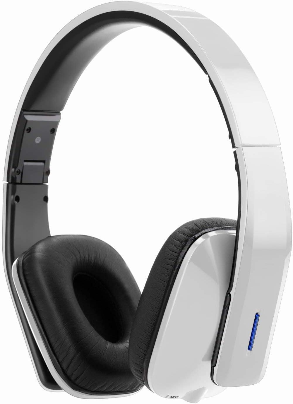 WhiteLabel On Ear Bluetooth Headphones, Standard Style (WL558+White Black)