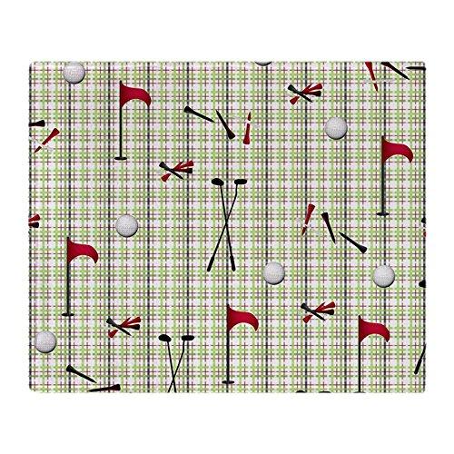 CafePress Hole in One Golf Equipment On Plaid Soft Fleece Throw Blanket, 50