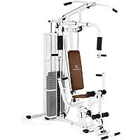 KLAR FIT Klarfit Ultimate Gym - Station de Musculation Multifonction, Station de Fitness, Réglage du Poids Via Broches, Cadre Tubulaire Robuste, Facile à Nettoyer, Câbles Lisses