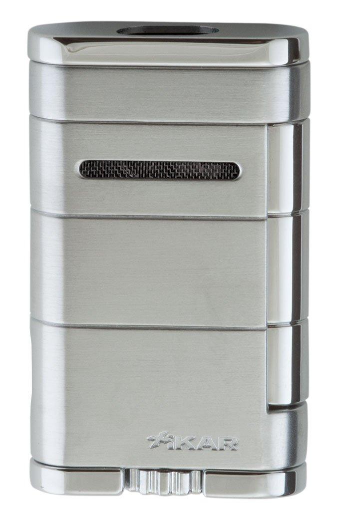Xikar Allume Double Jet Silver Lighter