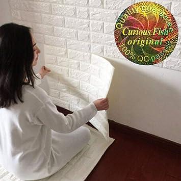 3D Ziegelstein Tapete 60x60cm Weiß Brick Pattern Wallpaper ...