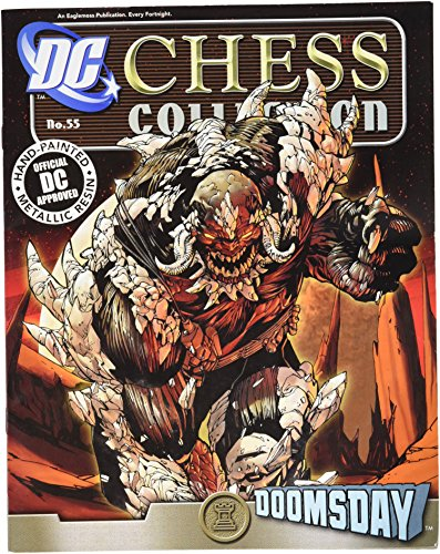 Doomsday Figure Set - DC Superhero Chess Figure & Magazine #55 Doomsday Black Rook
