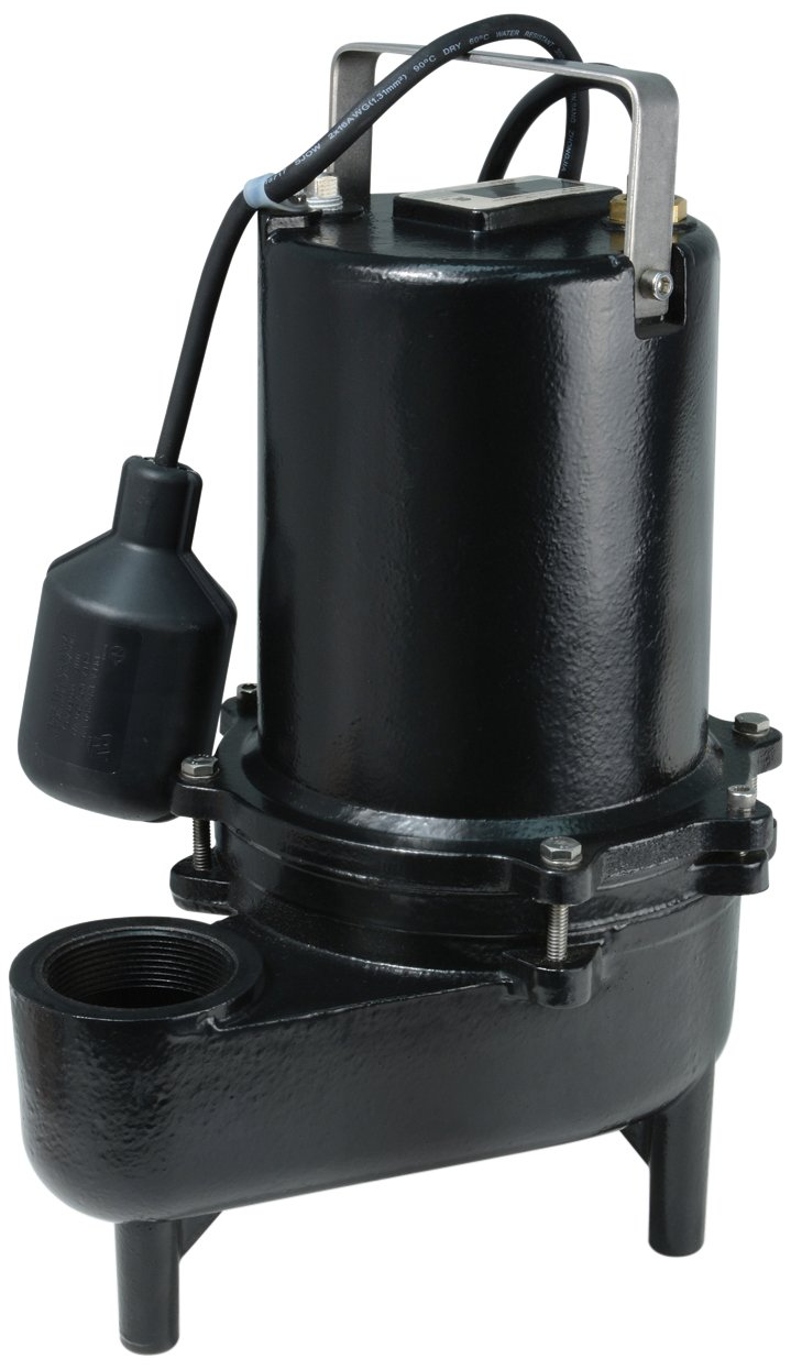 ECO-FLO Products ESE60W Cast Iron Sewage Pump with Wide Angle Switch,  6/10 HP, 9,910 GPH by ECO-FLO PRODUCTS INCORPORATED