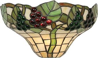 Imagen deOaks Lighting OT 0209 WB - Lámpara de pared (cristal Tiffany), diseño de uvas