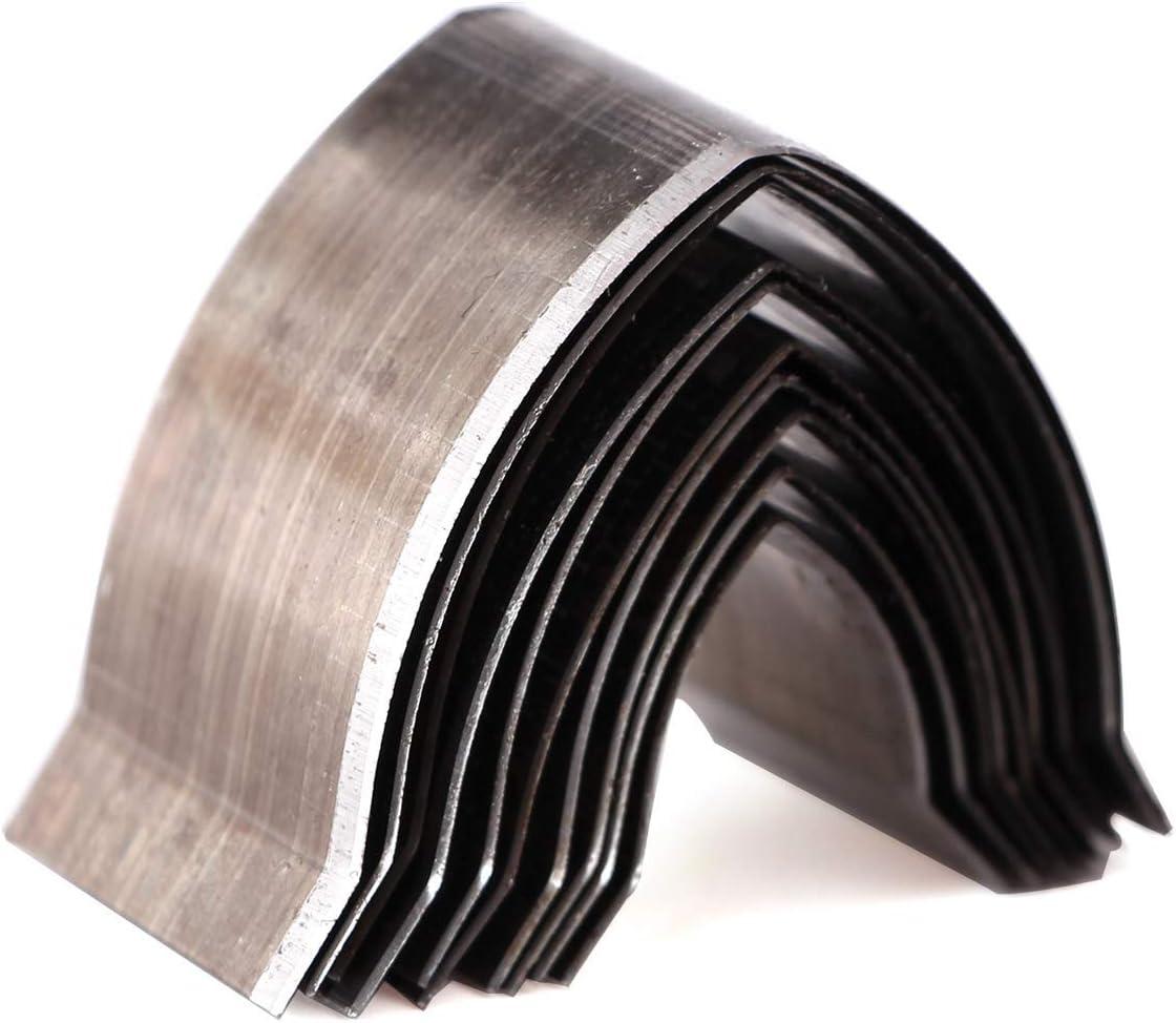 10pcs DIY Punch Cutter de Cuero Set de Moldes Troquelados con Acabado de Cinturón Artesanal de Cuero 15-40mm para Cinturón Hecho a Mano, Correa de Reloj (Sharp End)