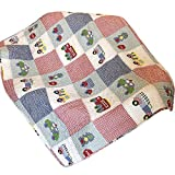 Abreeze Coverlet Quilt Bedspread Mini-car Summer Air-Conditioning Quilt for Boys Kids 43'' X 51''