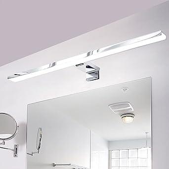 Agreable CroLED Lampe Salle De Bain LED 8W 600LM Blanc IP44 Aluminium Eclairage Pour  Miroir Maquillage Ameublement