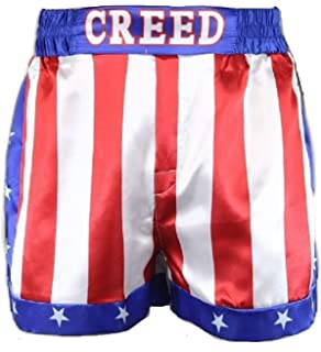 3277ab5b19af Creed Rocky Men s Apollo Johnson Movie Boxing American Flag Shorts Trunks  Boxers