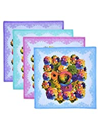 Roopalee Digital Handkerchief Ladies Printed Hanky Hankies Pack Of 12 Pcs