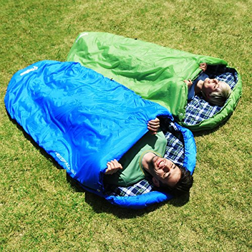 KingCamp Sleeping Bag Pill Oversize Hooded Adult Warm Lightweight Portable Waterproof Comfort with Compression Sack for Three Season Backpacking Camping Hiking 17.6F/-8C