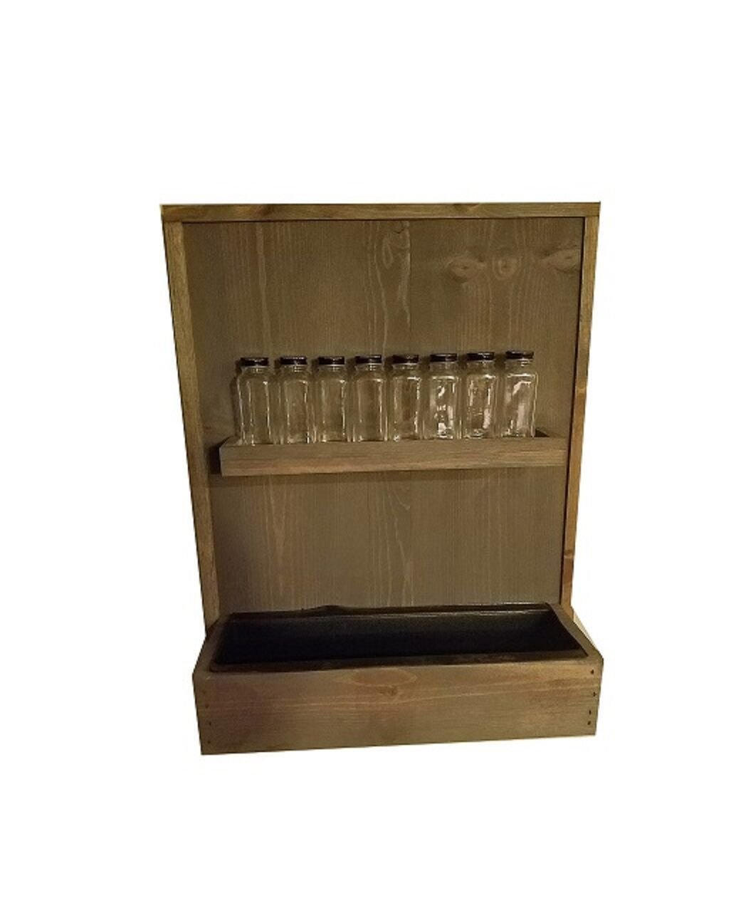 Shop Living Walls SLW-WM19SR-RB Wall Plant Holder Spice Rack, Reclaimed Brown by Shop Living Walls