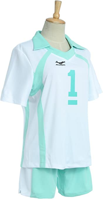 rolecos Aoba johsai alta escuela uniforme voleibol Jersey deportes ...