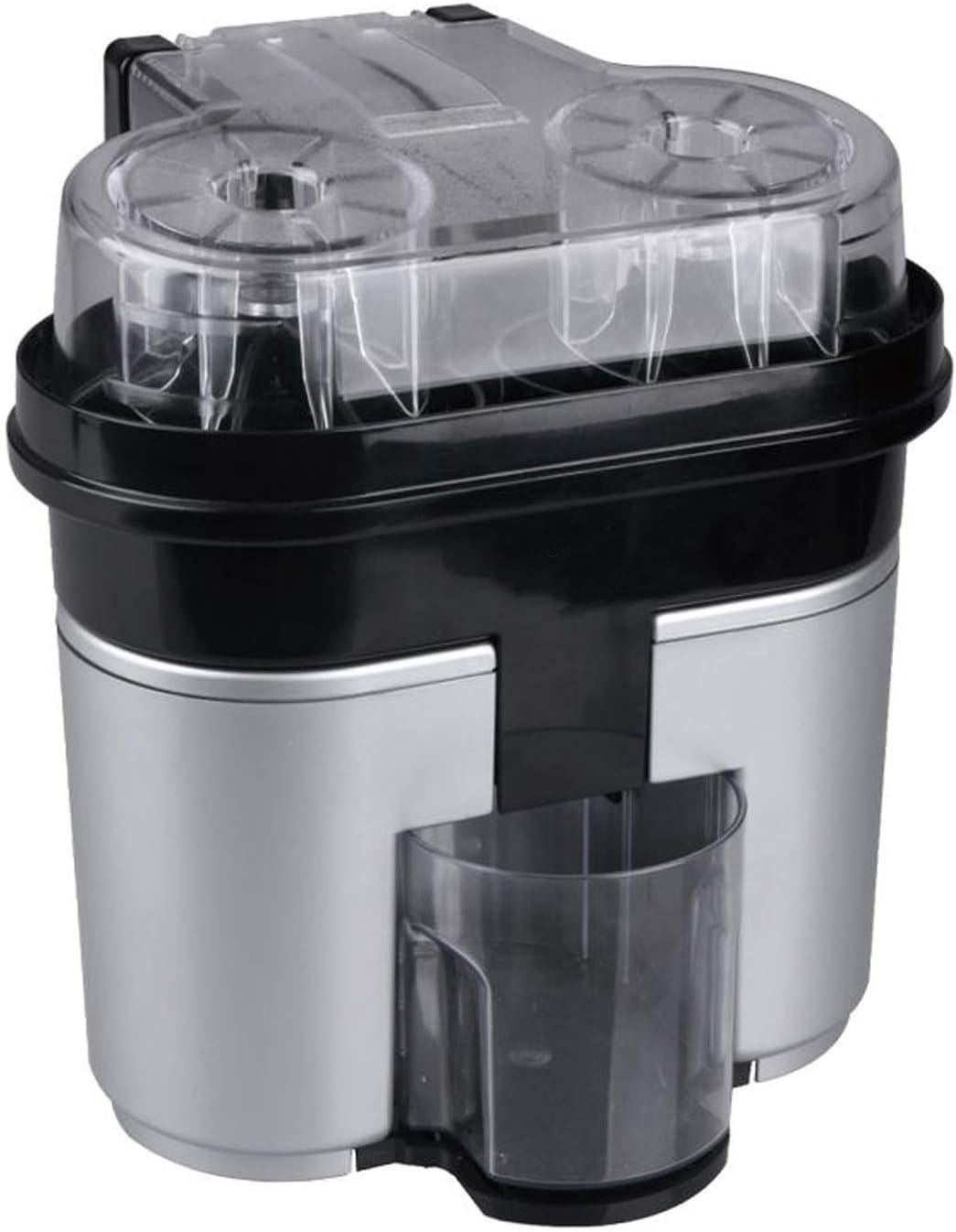 Krystal_wisdom Double Juicer Lemon Juicer Is Fast And Convenient Squeeze Oranger Juicer Household DIY Juice Maker,Silver,UK,220-240V