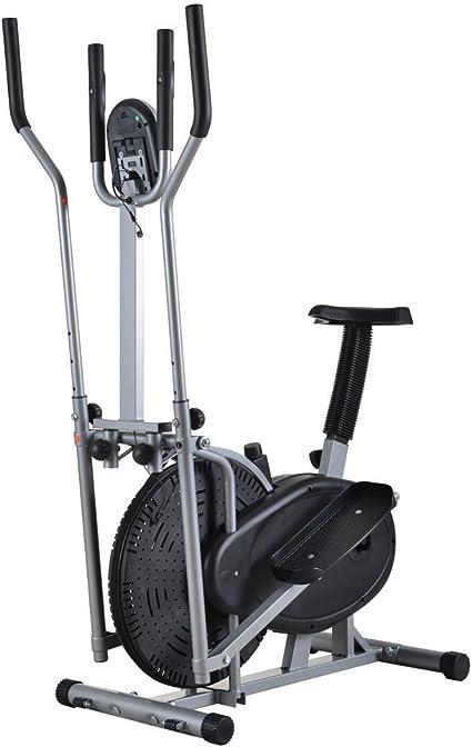 Bicicleta estática, bicicleta elíptica, Fitness suministros Steppers magnético máquina elíptica Walker – Bicicleta estática, color negro: Amazon.es: Deportes y aire libre