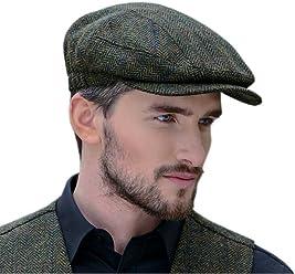 ca216ceb36a70 Peaky Blinders Cap for Men, Made in Ireland, 100% Irish Tweed, Green