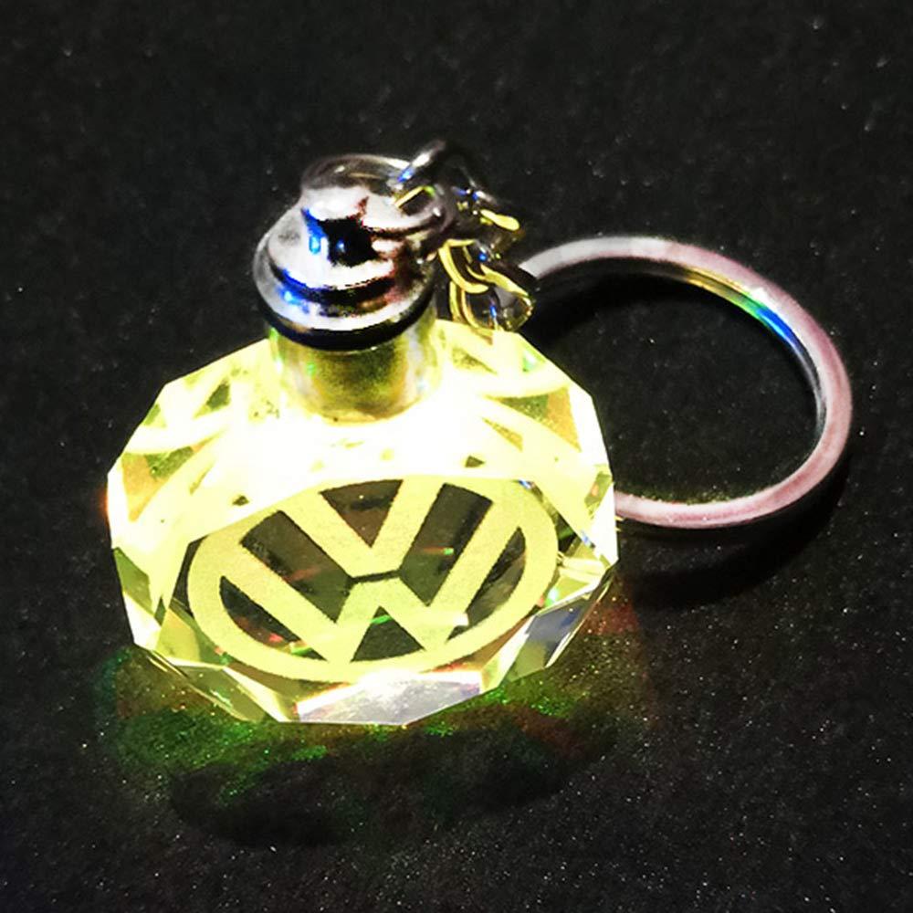 VILLSION LED Porte-cl/és de Voiture Logo Porte-cl/és Multicolore Accessoires cl/és avec bo/îte Cadeau