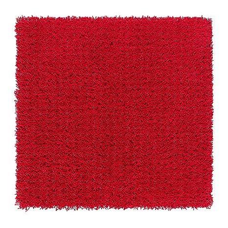 Ikea Hampen - Tappeto a pelo alto, 80 x 80 cm, colore rosso: Amazon ...