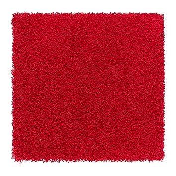 Ikea Hampen Teppich Hochflor Rot 80 X 80 Cm Amazon De Kuche