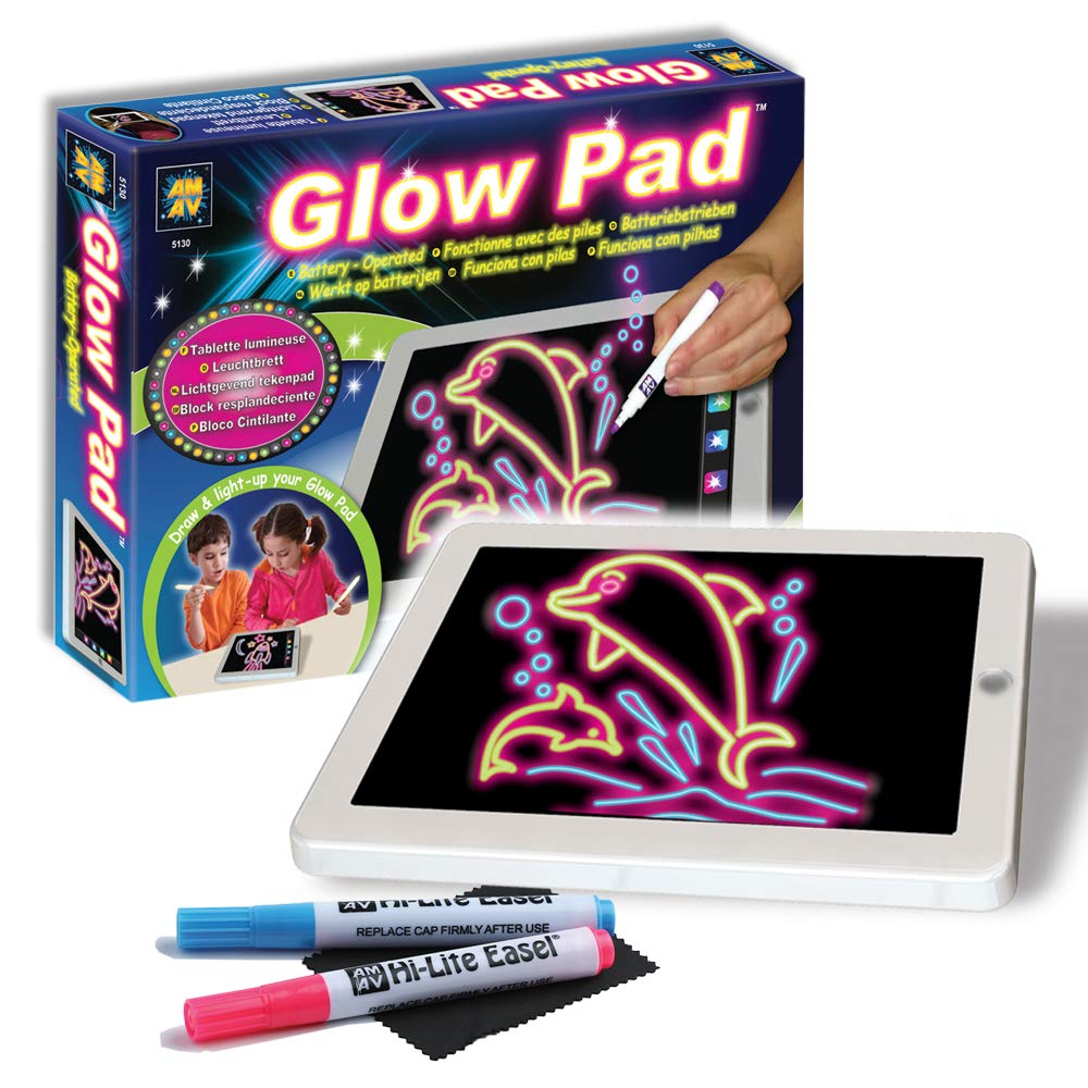 Amazon.com: AMAV Glow Pad - Portable Hi-Tech Drawing Board ...
