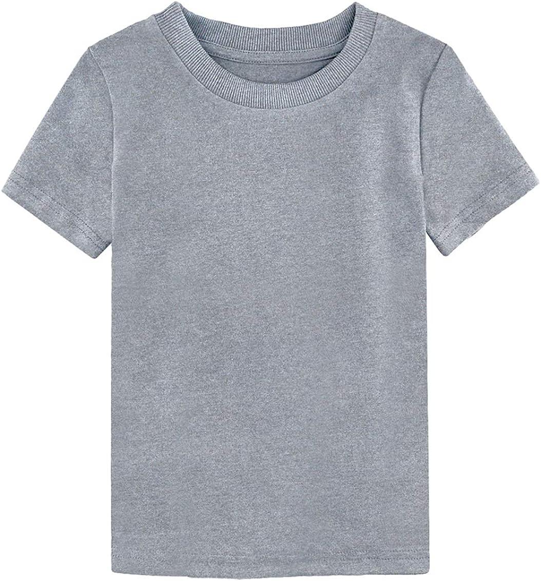 MOMBEBE COSLAND Baby Kids Plain T Shirt Age 1-16 Years
