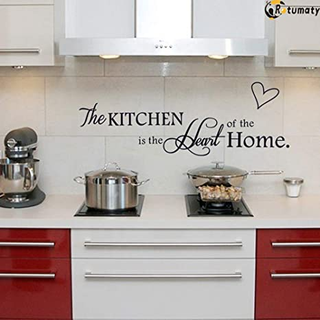Amazon Com Rotumaty The Kitchen Quote Wall Stickers Dining Room Decal Vinyl Home Decor Size A