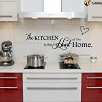 Rotumaty 'The Kitchen' Quote Wall Stickers Kitchen & Dining Room Wall Decal Vinyl Home Décor (Size A)