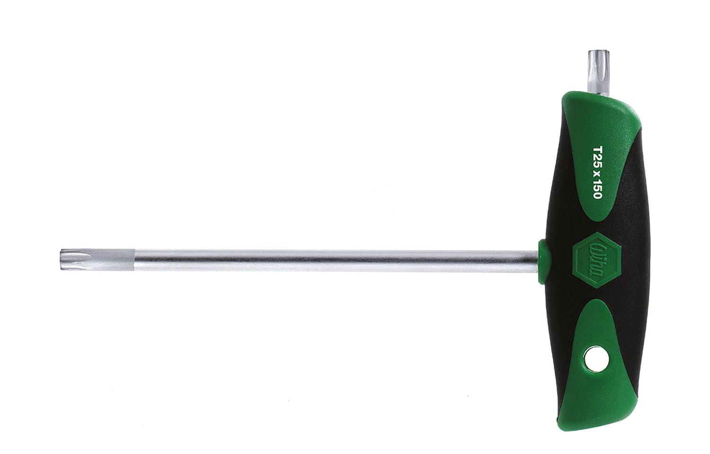 T15 x 100 mm 26173 Wiha Stiftschl/üssel mit Quergriff ComfortGrip TORX mattverchromt