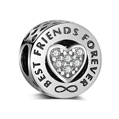 ded3f5fbf55 Best Friends Forever Charm Authentic 925 Sterling Silver Beads Fits Pandora  & All European Charm Bracelets & Necklaces