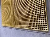 "FRP Grating Mesh 4'x4', 1.5"" Thickness"