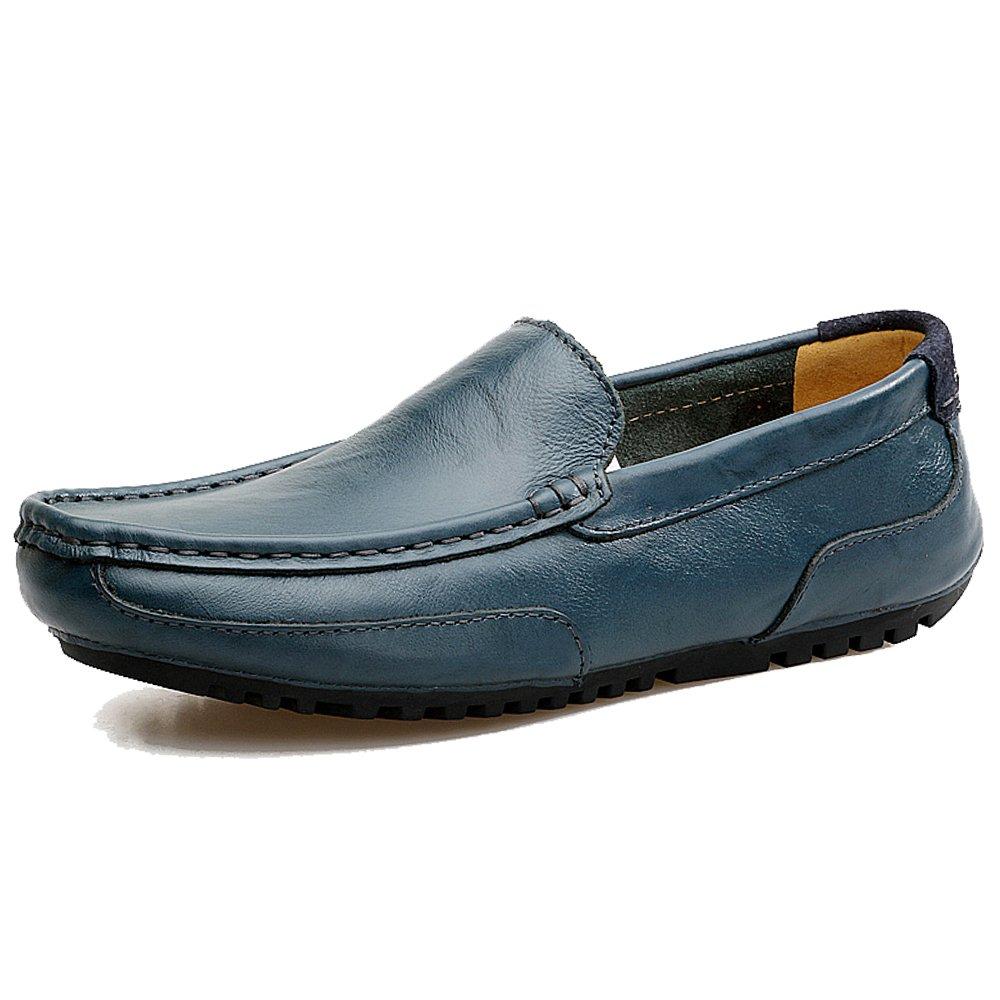 LANSEYAOJI Mocassin Homme Chaussures de Conduite Décontractées Slip-on Loafers Chaussures en Cuir de Mode Chaussures de Ville d'affaires Flâneurs Plats Chaussures de Bateau de Confort EUYJ-2028
