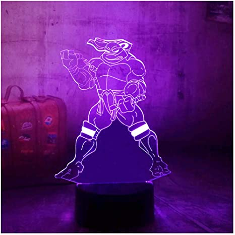 Nuevo 2019 Mutant Ninja Turtles 3D LED 7 colores Cambiar ...