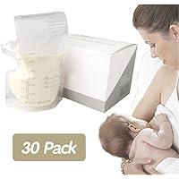 30 Packs Breastmilk Storage Bags 250ML Breastfeeding Freezer Storage Container Bags for Fridge Proof Double Zipper BPA Free