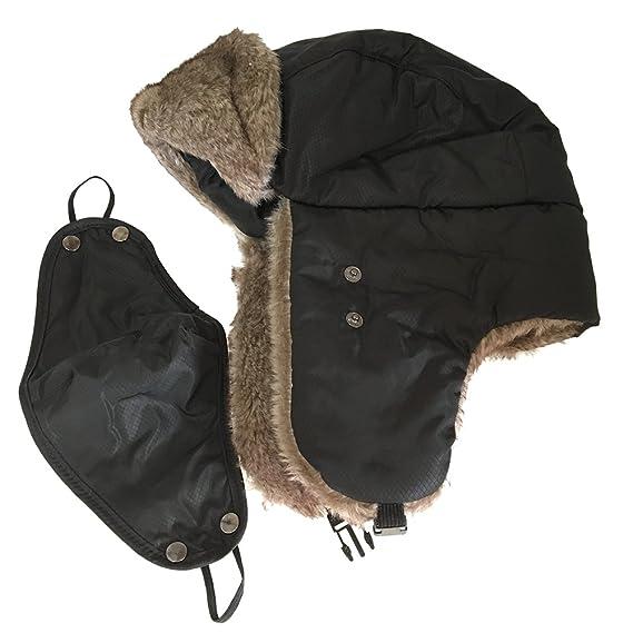Uomini Donne Inverno Aviatore Cappello Cappuccio Caldo Paraorecchie  Antivento Trapper Bomber (nero)  Amazon.it  Abbigliamento fe1ee06499a8