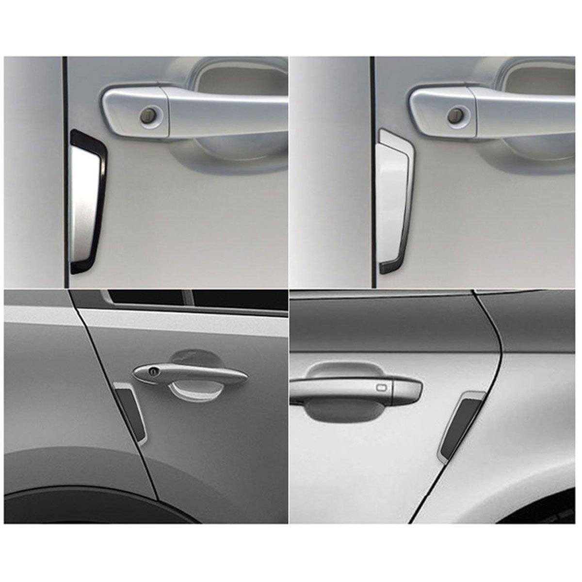 STATUS CAR Slim Soft Door Edge Guards Door Protector Guard Molding White x4Pcs