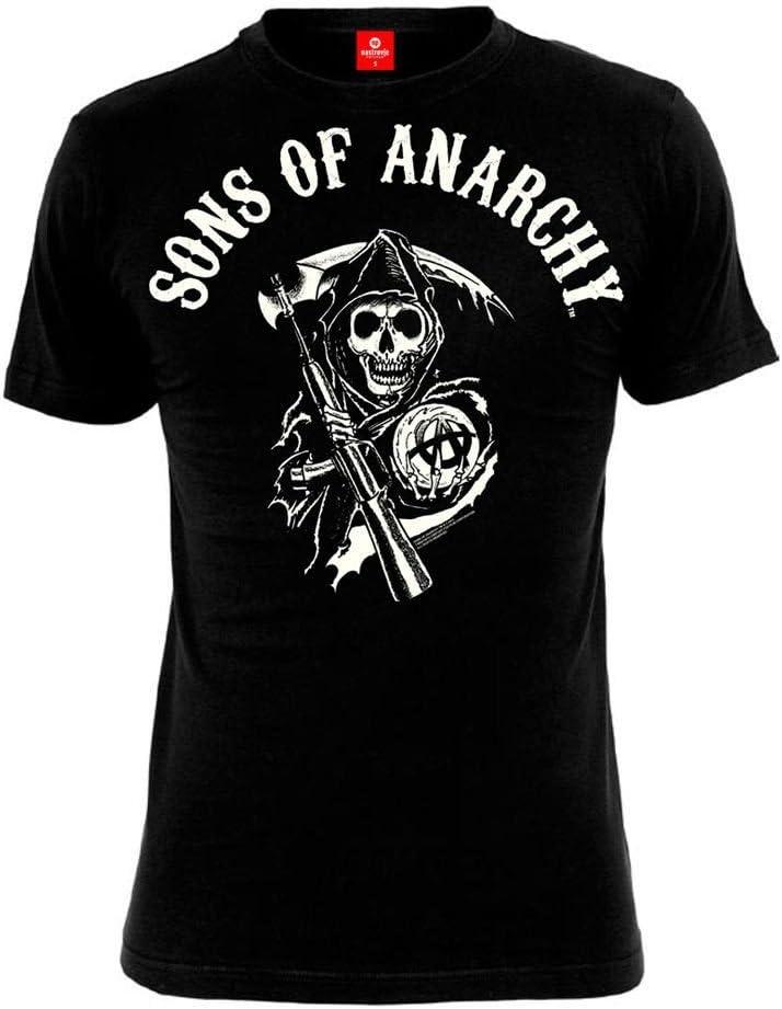 Sons of Anarchy T-shirt heren - REAPER LOGO - zwart