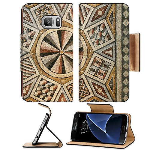 MSD Premium Samsung Galaxy S7 Flip Pu Leather Wallet Case IMAGE 10496253 Roman mosaic tile floor with geometric (Roman Marble Mosaic)