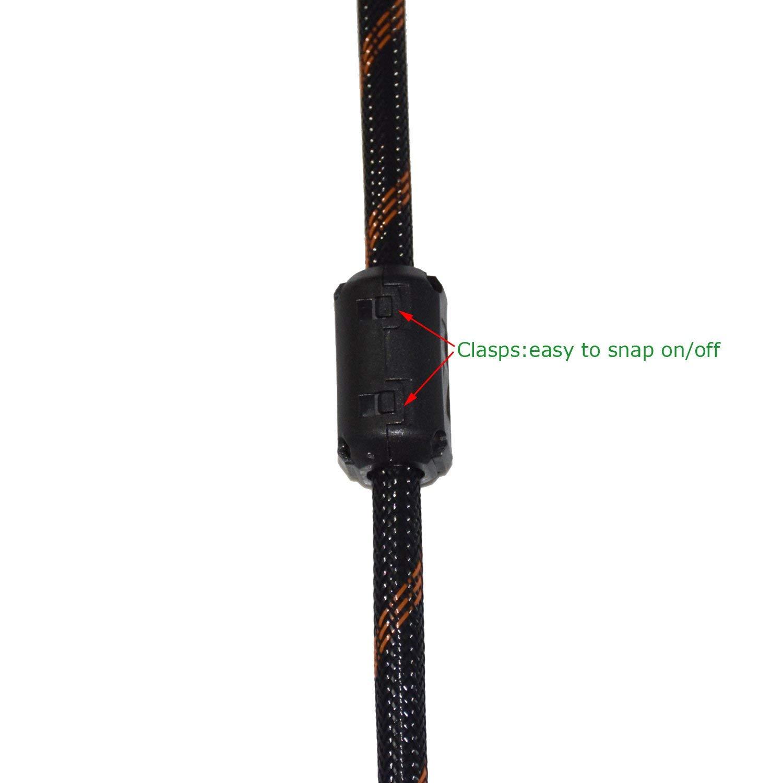 20/St/ück Wechselrahmen Ferrit Ring Core Schwarz Rauschunterdr/ücker Kabel-Clip f/ür 5/mm//7/mm//9/mm//13/mm Durchmesser Kabel