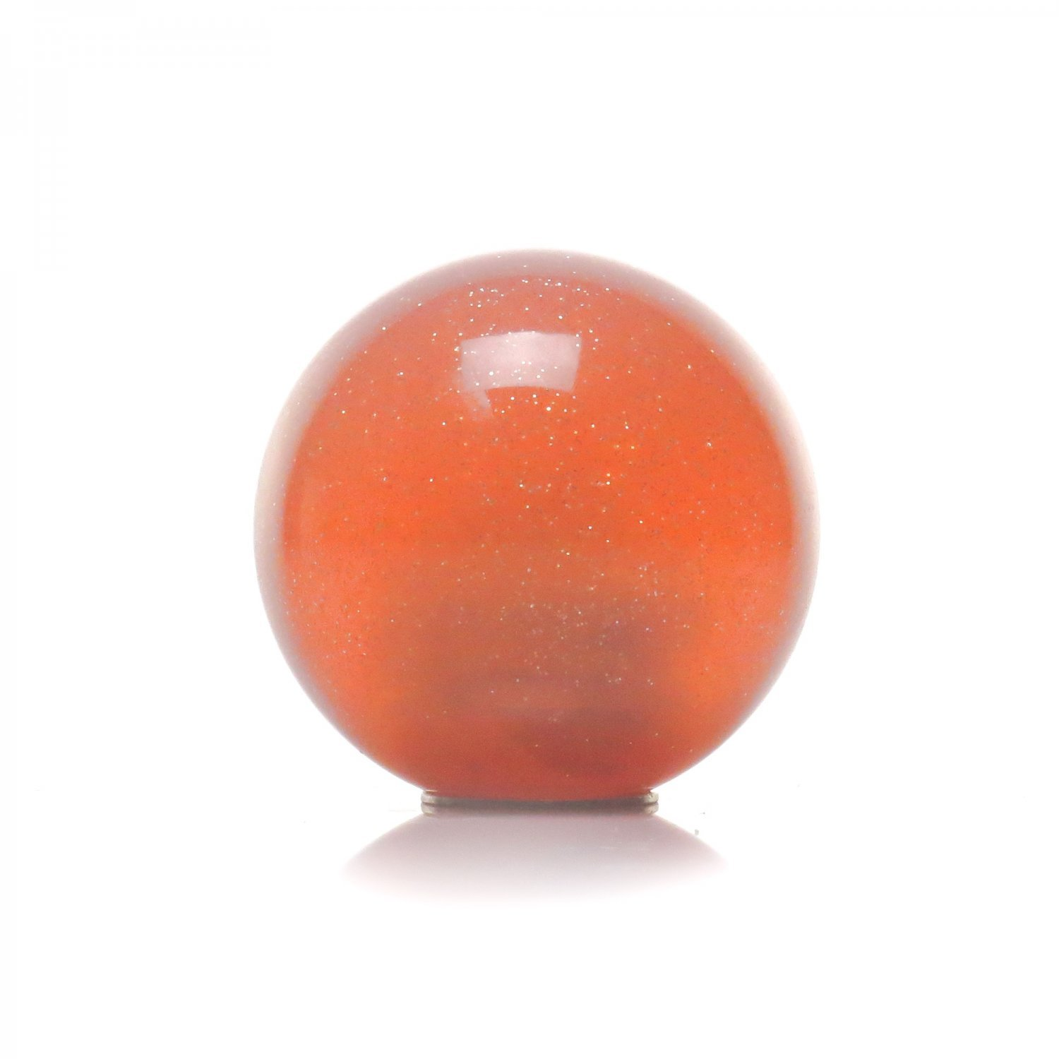 American Shifter 43109 Orange Metal Flake Shift Knob with 16mm x 1.5 Insert Pink Turbo Lag Swag