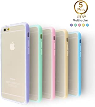 5-Pack Ace Teah TPU Case for iPhone 6/6S