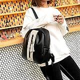 DDLBiz Women's Backpack Travel Zipper Tassel Handbag Rucksack Shoulder School Bags (White)
