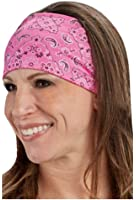 That's A Wrap Women's Foil Bandana Hot Pink Paisley Knotty Band, Pink KB1625