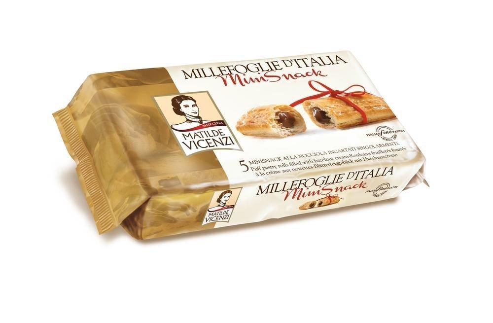 Matilde Vicenzi, Dulce de azúcar (Hojaldres, Avellana) - 3 de 125 gr. (Total 375 gr.): Amazon.es: Alimentación y bebidas