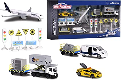 Lufthansa Majorette 212057720 Big Airport Theme Set Neu